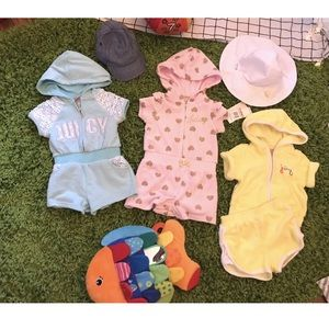 Summer Outfits 3 Juicy Couture Rompers 2 Hats